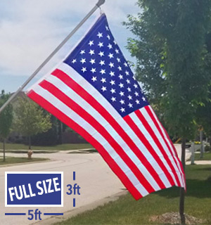 American Flag - 3x5 Foot (Standard Size) - Limit of 8 - #1184