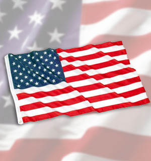 Lot of 25 American Flags (3 x 5 - Standard Size) - #1184WP