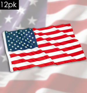 American Flag - 3x5 Foot (Standard Size)  12-Pack - #1184G