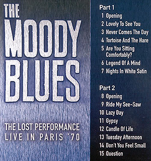 The Moody Blues - The Lost Performance 1970  DVD - #3026