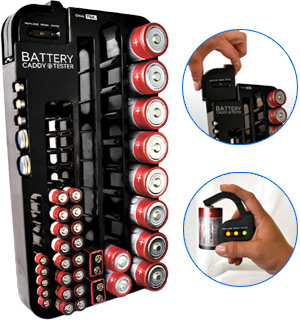 Battery Caddy - Organizer & Tester - #3089