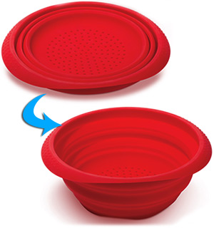 "9"" Collapsible Colander - #4028"