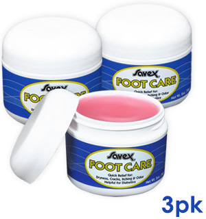 3-PK of Savex Foot Care Salve