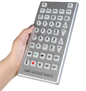 Universal Jumbo Remote Control: Connect Up To 8 Devices - #5047