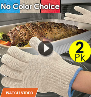 2-Pack of Miracle Oven Gloves - Withstands heat up to 480 degrees