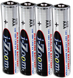 4-pk of AAA Alkaline Batteries - #5216