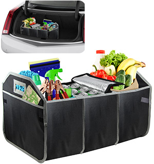 Folding Car Trunk Organizer with Cooler Bag - #5318
