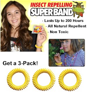 Insect Repelling Super Bands 3-Pack - #5500A