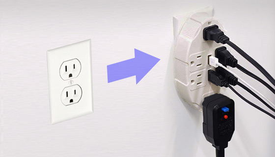 Usb outlet multiplier by ideaworks pulsetv - Electrical outlet multiplier ...