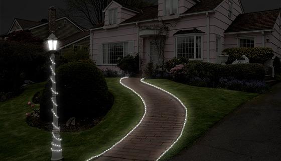 50 Led Solar Rope Lights White 16 5 Ft Of 23 E