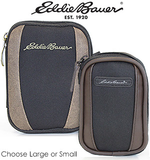 Eddie Bauer Black & Brown Slim Camera Case - #5836