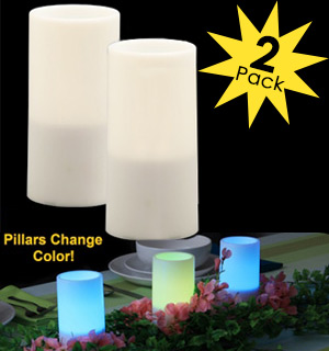 Color Scan Pillar Candles 2-Pack - #5952