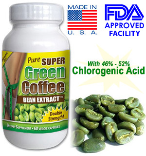 Pure Green Coffee Bean Extract w/ Chlorogenic Acid- 60 Capsules - 800mg - #5970