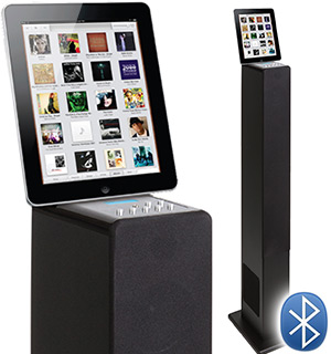Bluetooth iPad/iPhone iTower Speaker and Docking Station - #6113