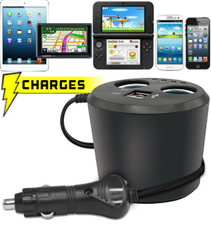 Auto Charging Station - Charge ALL Your Devices From Your Car - #6207