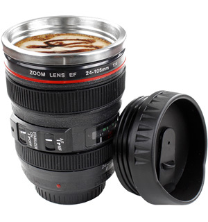 Camera Lens Coffee Cup - #6380