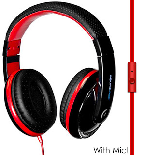 Superior Bass Stereo Headphone w/ Mic - #6601
