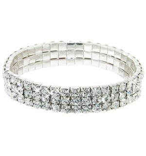 Crystal Stretch Tennis Bracelet - #6607