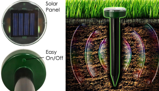 Solar Powered Pest & Rodent Repeller - PulseTV