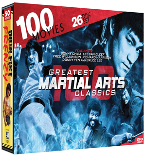 100 Greatest Martial Arts Classics DVD - #6739