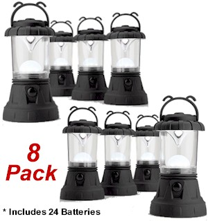 Portable Bright 11 LED Mini-Lanterns 8-pack w/ Batteries - #6776A