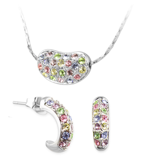 Swarovski Crystal Bean Pendant and Earring Set - #6781