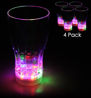 Four Pack of Flashing LED Drinking Glasses - #6793A