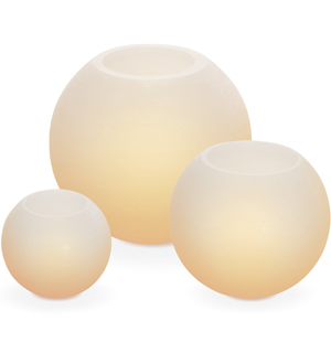 3pc LED Round Soft Glow Candles - #6800