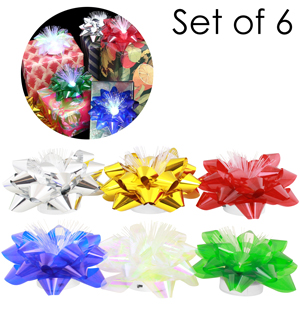 LED Gift Bows - Set of 6 - #6808