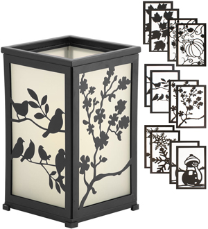 Metamorphis Interchangeable Flameless Lantern by Pacific Accents - #6816