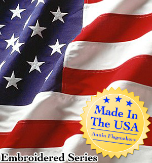 Embroidered 3x5 Nylon American Flag (Made in the USA) - #6834