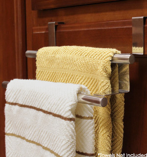 Over the Cabinet Double Bar Towel Rack - #6847