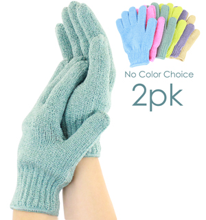 Exfoliating Bath Gloves by London Bath & Beauty - #6861A