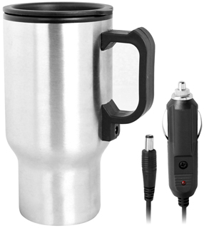 14oz Heated Steel Mug with Charger - #6865