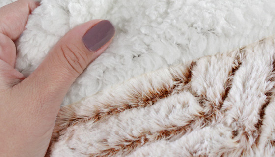 Luxury Faux Mink Sherpa Large Throw
