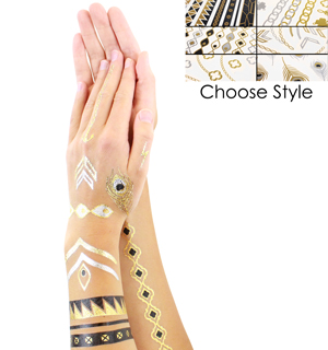 Metallic Flash Tattoos - #6874