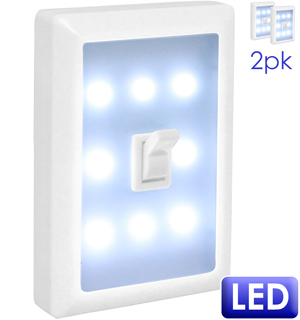 Light Switch Night Light 2-Pk - #6898A