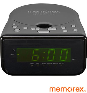 Memorex CD Alarm Clock Radio (Factory Refurbished) - #6907