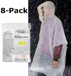 Emergency Poncho 8-Pack - #6915B