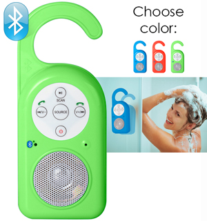 Bluetooth Wireless Shower Speaker w/ Phone Features - #6917