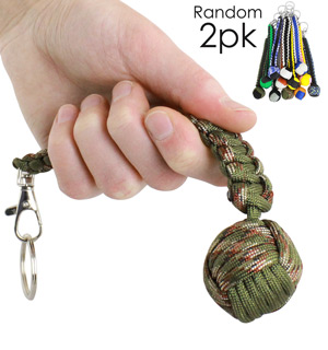 Monkey Fist Keychain 2-PK (Colors Vary) - #6928A