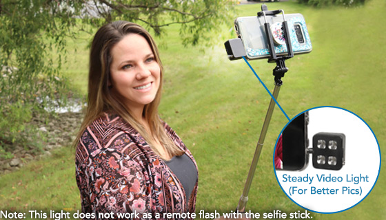 Selfie Expandable Monopod<br />with Shutter Button