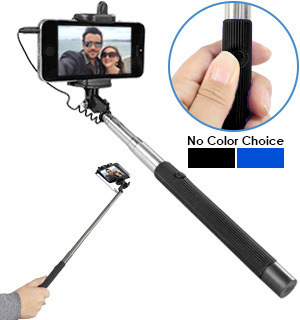 Selfie Expandable Monopod<br />with Shutter Button - #6944