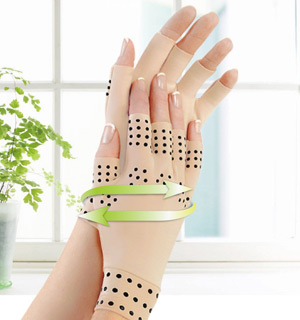 Magnetic Therapy Compression Gloves - #6950A
