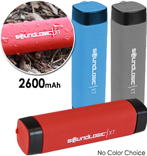 Water and Shock Resistant Power Bank - 2600 mAh - #6972