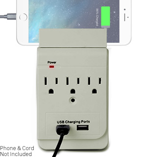 Dual-Power USB and AC Outlet Tap - #6979