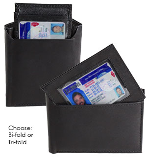 Leather Wallet with ID Insert - #6988