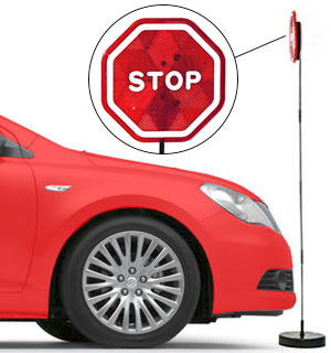 Stop Sign Parking Sensor with Flashing Lights - #7010
