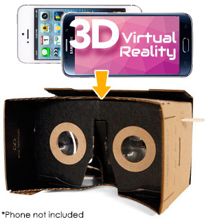 DIY Cardboard 3D Virtual Reality Kit - #7085