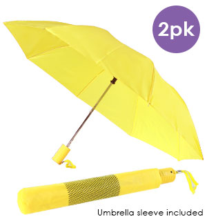 Yellow Compact Umbrella 2-pack - #7100A
